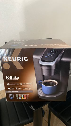 Keurig K-Elite Single-Serve K-Cup Pod Coffee Maker with Iced Coffee Setting for Sale in Roseville, CA