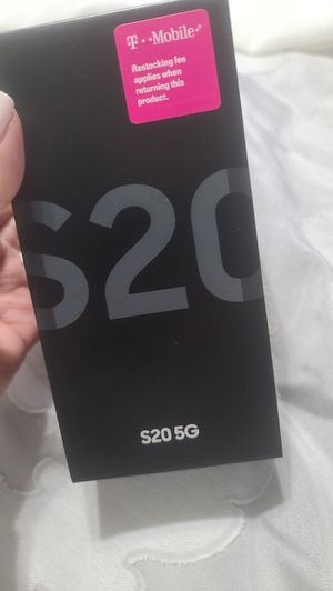 Samsung S20 5G 128 gb . Fingerprint ID. Facial recognition.Cosmic Gray for Sale in Olmito, TX
