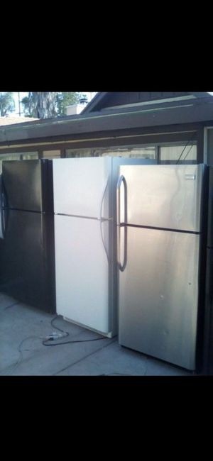 Fridge refrigerator freezer frigidaire Kenmore emerson whirlpool apartment sized delivery available stainless steel appliances kitchen aid refri for Sale in Colton, CA