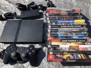 PlayStation 2 Slim + 11 Games (GREAT VALUE) for Sale in San Diego, CA