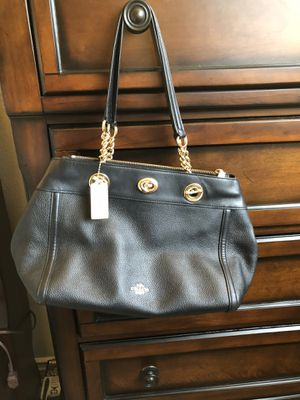 Black Leather Coach Purse for Sale in Eastvale, CA