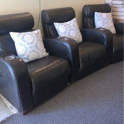 Real Leather Black Sofa for Sale in Oakland,  CA