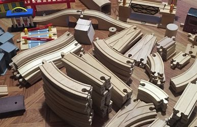 Wooden Toy Train Set for Sale in The Bronx,  NY