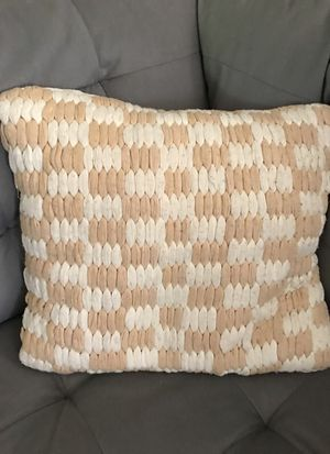 Cream and white pillow for Sale in Lemon Grove, CA