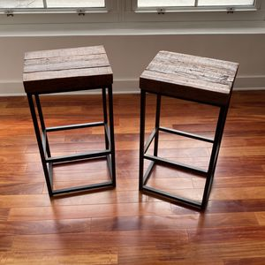 Cast Iron & Repurposed Wood Stools for Sale in Jersey City, NJ