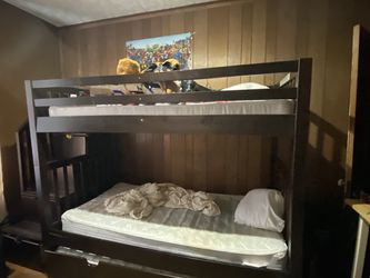 Bunk Bed W Trundle And Dresser Pick Up Only Cash Only for Sale in Boylston, MA