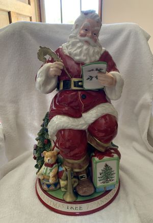 Spode Christmas Santa Anniversary Cookie Jar for Sale in Los Angeles, CA