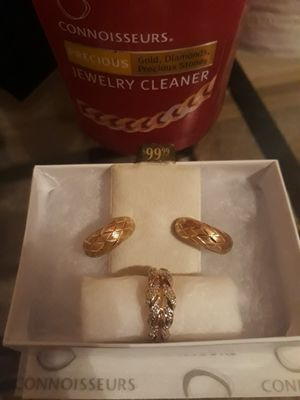 10k gold earrings and ring set for Sale in Yuma, AZ