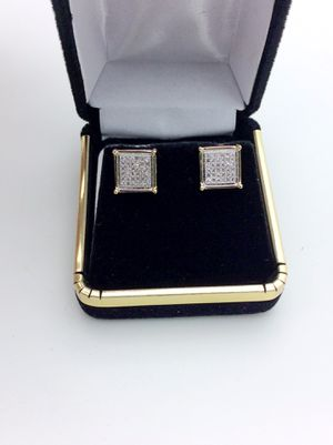10k Diamond Square Earrings for Sale in Ontario, CA