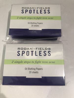 Rodan and Fields Spotless Oil Blotting Papers (5 boxes of 20 sheets) for Sale in Plano, TX