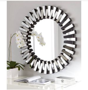 """Gorgeous Master Piece Afina Modern Luxe Round Wall Mirror 43"""" Home, office or Hallway RETAIL $599 for Sale in Austin, TX"""