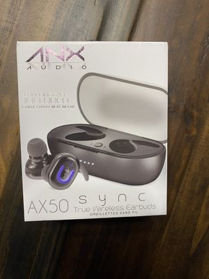 ANX AUDIO-TRUE WIFELESS EARBUDS-AX 50 SYNC for Sale in San Antonio, TX