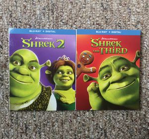 Shrek 2 / Shrek the Third (Blu-Ray) with Slipcover NO DIGITAL for Sale in Rocky Mount, NC
