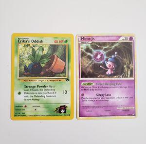 POKEMON CARDS Erika's Oddish 70/132 + Mime Jr. 47/95 Rare. for Sale in Adelphi, MD