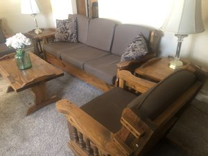 Wooden living room set for Sale in GLMN HOT SPGS, CA