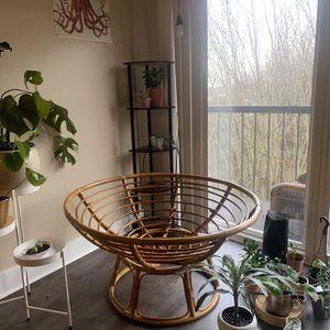 Vintage wicker Papasan Chair for Sale in Seattle, WA