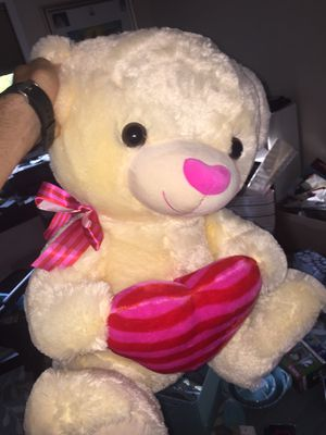 Giant Stuffed Animal Bear with Pink Heart Nose for Sale in Parma, OH