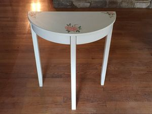 Half Moon Table with Matching Mirror for Sale in Roanoke, VA