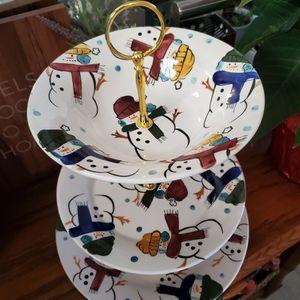 3 TIER CHRISTMAS DESSERT STAND for Sale in La Verne, CA