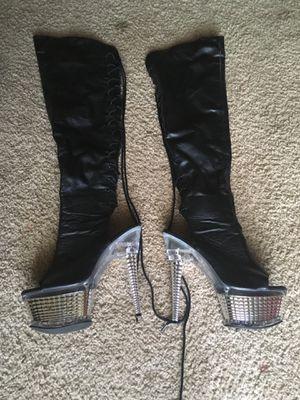 Leather platform knee high boots for Sale in Atlanta, GA