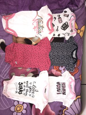6 Baby girl onesies for Sale in Washington, DC