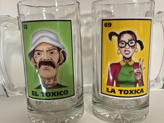 El Tóxico & La Tóxica Loteria Beer Mug Set for Sale in Carson,  CA