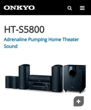 Onkyo HT-55800 Adrenaline Pumping Home Theater sound.(New) for Sale in Foster City, CA