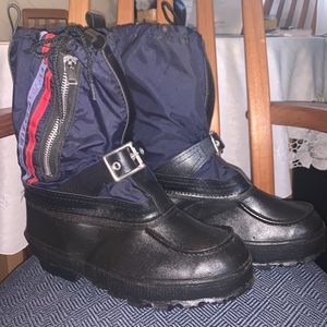 Vintage Heavy Duty Steel Shank Snowmobile Snow Boots, M US 8 for Sale in Pasadena, CA