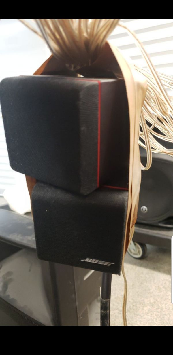 BOSE AQUISTIMASS SERIES II. Double CUBE Swivel. SPEAKERS Stand & Cables