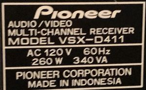 Pioneer Receiver for Sale in York, PA