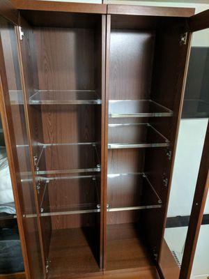 4 Ikea bookcases with custom Plexiglass shelves for Sale in Seattle, WA