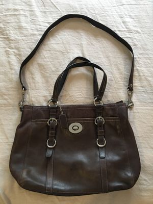 Coach handbag purse. Brown leather for Sale in San Juan Capistrano, CA