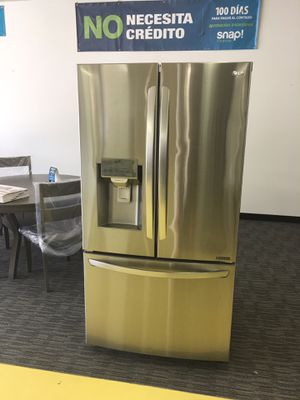 LG SMART French Door Refrigerador Scraches Dent With Warranty No Credit Needed Just $39 De Enganche You Take Home for Sale in Garland, TX