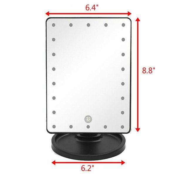 22 LED Light Portable Ajustable Vanity Lighted Makeup Mirror 10X Magnification (22ledmirror-USA)