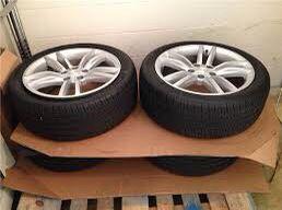 """Tesla model S 19"""" silver wheels for Sale in Dallas, TX"""
