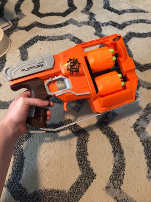 NERF flip fury dart gun with darts for Sale in Raleigh, NC