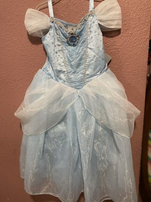 New with tags Disney store Cinderella costume size 5/6 for Sale in Santa Ana, CA