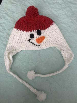 Crochet snowman kids hat for Sale in Kissimmee, FL