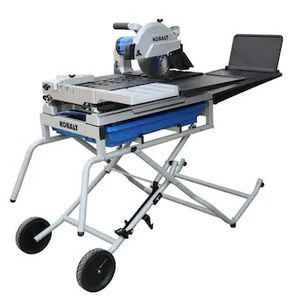 Kobalt 10 in tile saw Kobalt 10-in 15-Amp Wet Sliding Table Tile Saw with Stand for Sale in Houston, TX