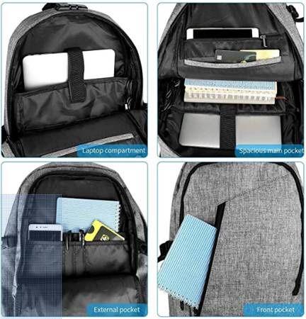Waterproof Backpack-Comfortable School Bookbag-For 15.6 Inches Laptop