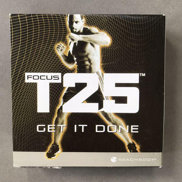 Beach body Focus T25 workout DVD set