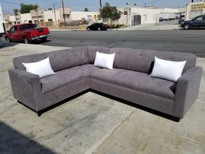NEW 7X9FT CHARCOAL MICROFIBER SECTIONAL COUCHES for Sale in City of Industry, CA
