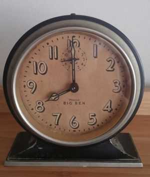 Antique Nickel Plated Westclox Big Ben Alarm Clock for Sale in Gaithersburg, MD