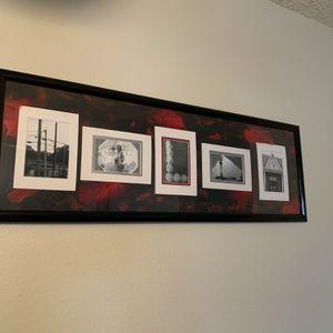 Black, White, Red Framed Picture for Sale in Denver, CO