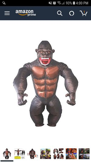 Adult Inflatable Gorilla Halloween Costume for Sale in Lodi, CA