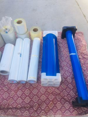"individual prices below 3M Engineer Grade Reflective Sheeting 3275 Blue, 48 In X 50 Yd $50 EACH 30"" X 10Y GERBER 220 3M 7125 114 CLEAR ENAMEL REC for Sale in Gardena, CA"