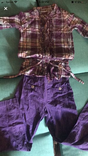 Girls purple plaid outfit for Sale in Nashville, TN