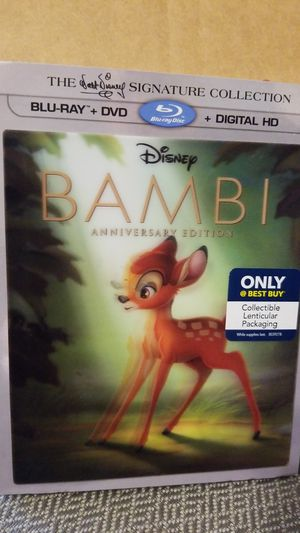 Bambi Anniversary Edition Blu Ray, DVD & Digital HD for Sale in Chicago, IL