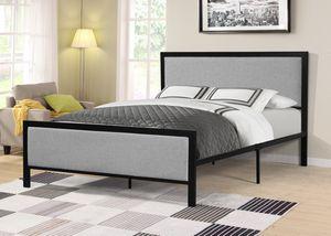Metal Queen Platform Bed Frame with Headboard, 7599 for Sale in Santa Fe Springs, CA