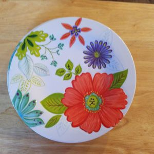 Flowers Dish Plates Set Of 5 Plastic Microwave Use Melamine Designe 9 Inches for Sale in Redmond, WA